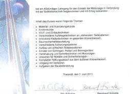 """Zertifikat """"Seilklettertechnik in der Baumpflege SKT B"""""""